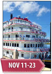 Extended Journey: Mississippi River Cruise, November 11-23, 2015